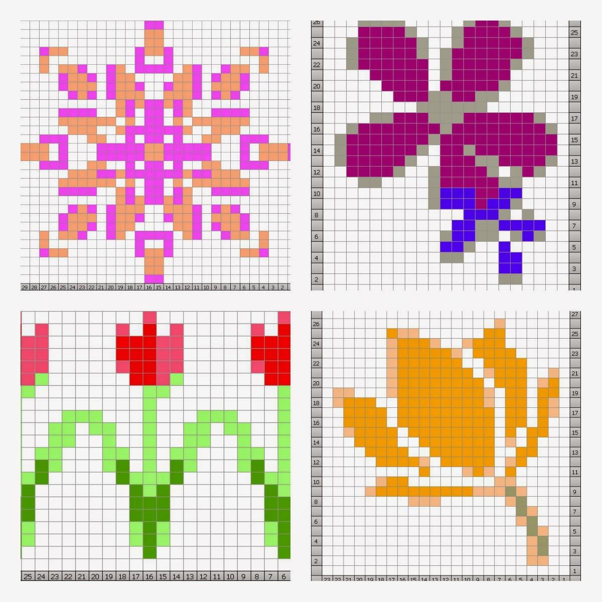 The Feminine Touch Uk Knitting Felting Blog 4 Free Flowery