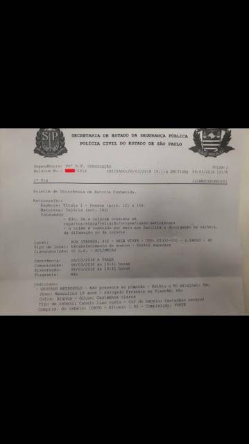 Racista Gustavo Metropolo aluno da FGV é afastado