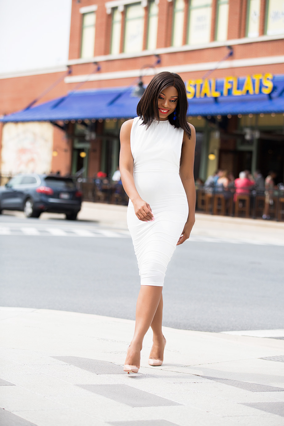 midi white dress, www.jadore-fashion.com