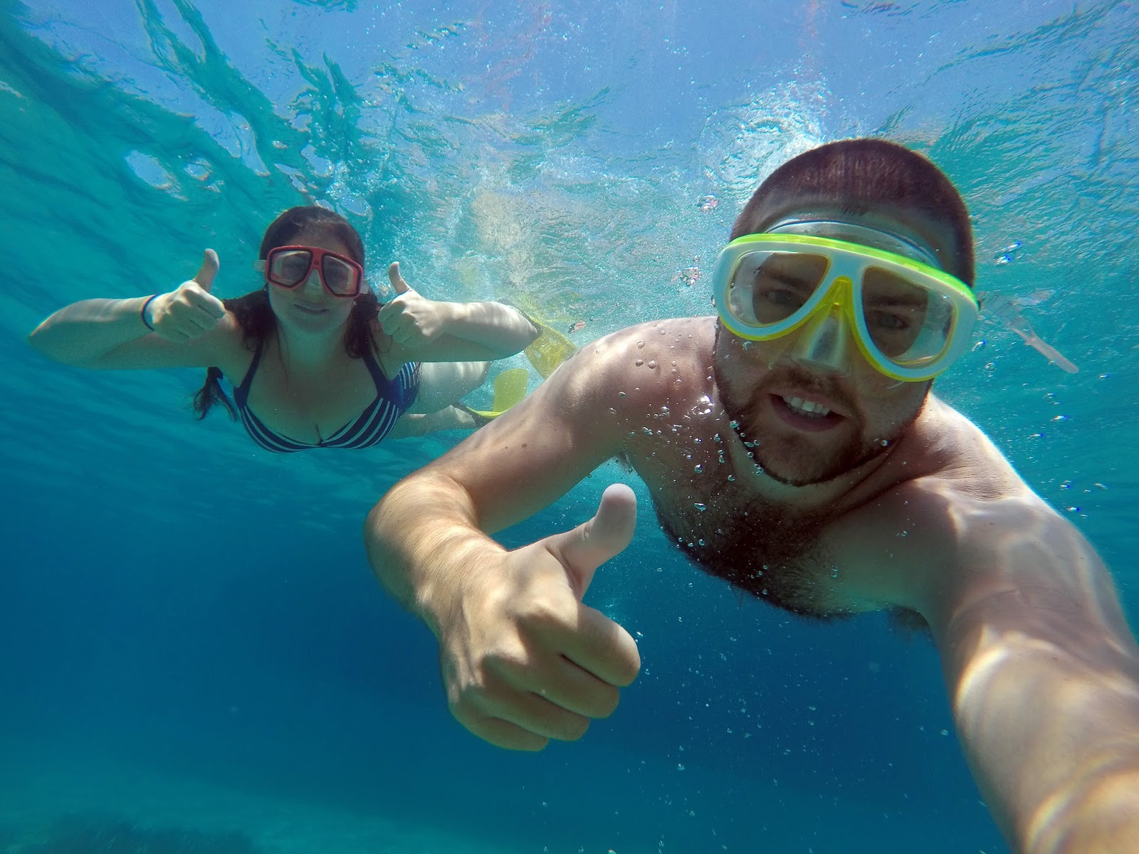 Snorkelling in Crystal Clear Water in Turkey