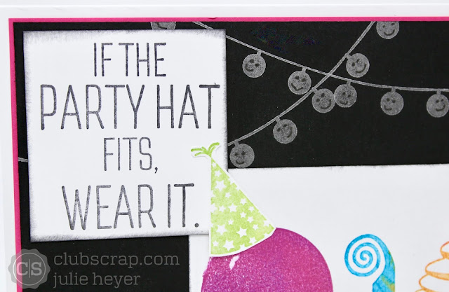 Classic to Cute Birthday card #technique #clubscrap #rubberstamping #cute #birthday #card