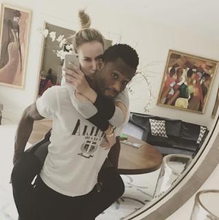 Mikel Obi and his babymama, Olga