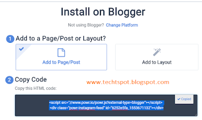 How to Add Instagram Widget to Blogger with Pictures 6