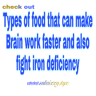 Types of food that can make Brain work faster and also fight iron deficiency