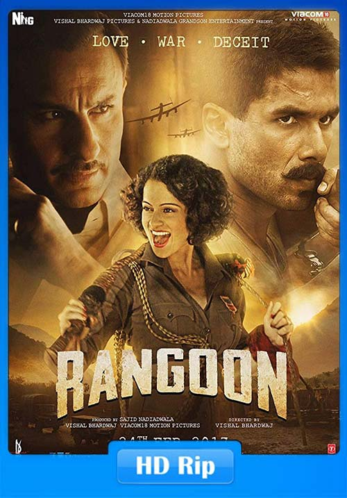 Rangoon 2017 720p HDRip Hindi Tamil x264 | 480p 300MB | 100MB HEVC
