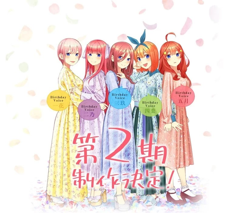 Visual Gotoubun no Hanayome Season 2