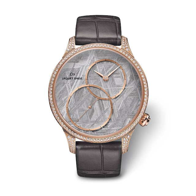 "Jaquet Droz Grande Seconde Off-Centered ""Meteorite"" 39mm with diamonds"