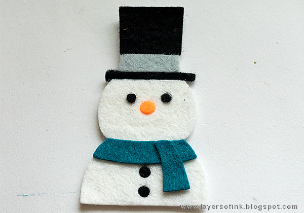 Layers of ink - Christmas Journal Tutorial by Anna-Karin with SSS Picture Book Snowman