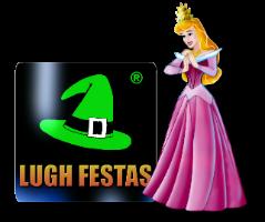 Logo Lugh Festas com a Princesa Aurora