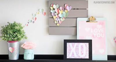 valentine decorations make with kids