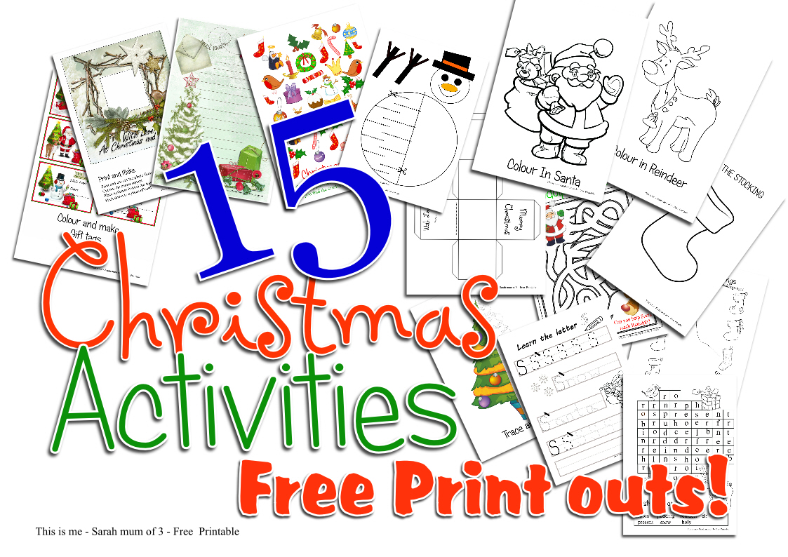 there is something for everyone here and you are sure to find things to entertain the little ones you can print out one each day and add to an advent - Activities To Print Out
