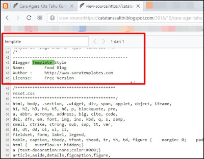 Pernahkan kalian terpikirkan untuk mengetahui nama template yang digunakan oleh blogger la Cara Mengetahui Nama Template Blog