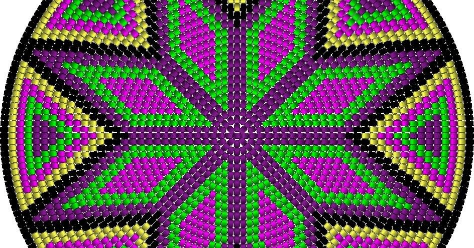 Heikeshäkellust: Muster für Wayuu mochila bag (Boden)