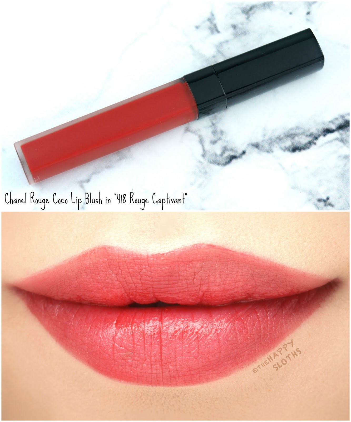 "Chanel Rouge Coco Lip Blush in ""418 Rouge Captivant"": Review and Swatches"