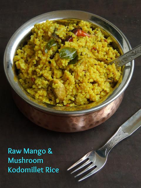 Raw Mango & Mushroom Kodomillet Rice