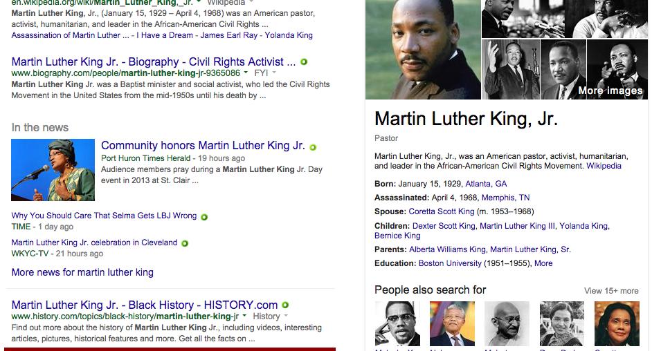 martin luther king biografia resumida para niños