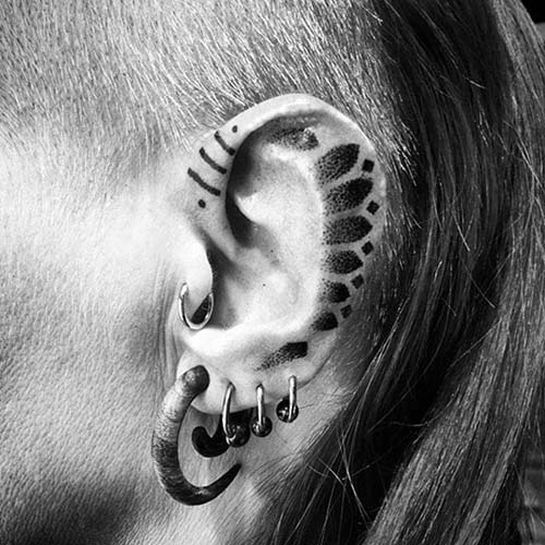 kulak üstü tribal dövmeler over the ear tribal tattoos