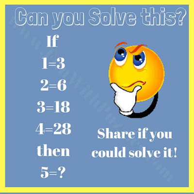 Math logic puzzle equation brain teaser