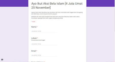 ayo ikut aksi bela islam 25 november