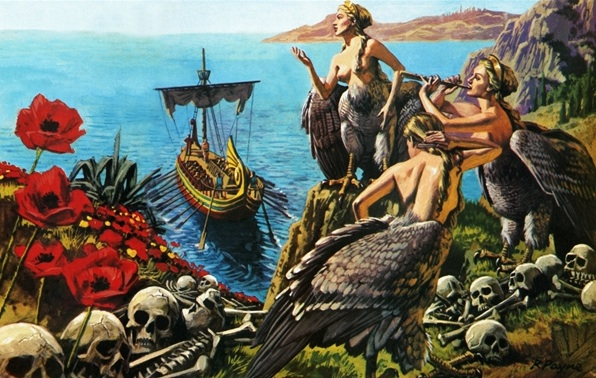 what book did odysseus meet the sirens