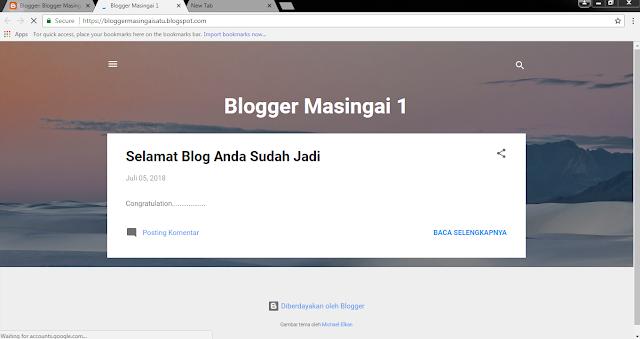 Cara Membuat Blog di Blogspot Blogger