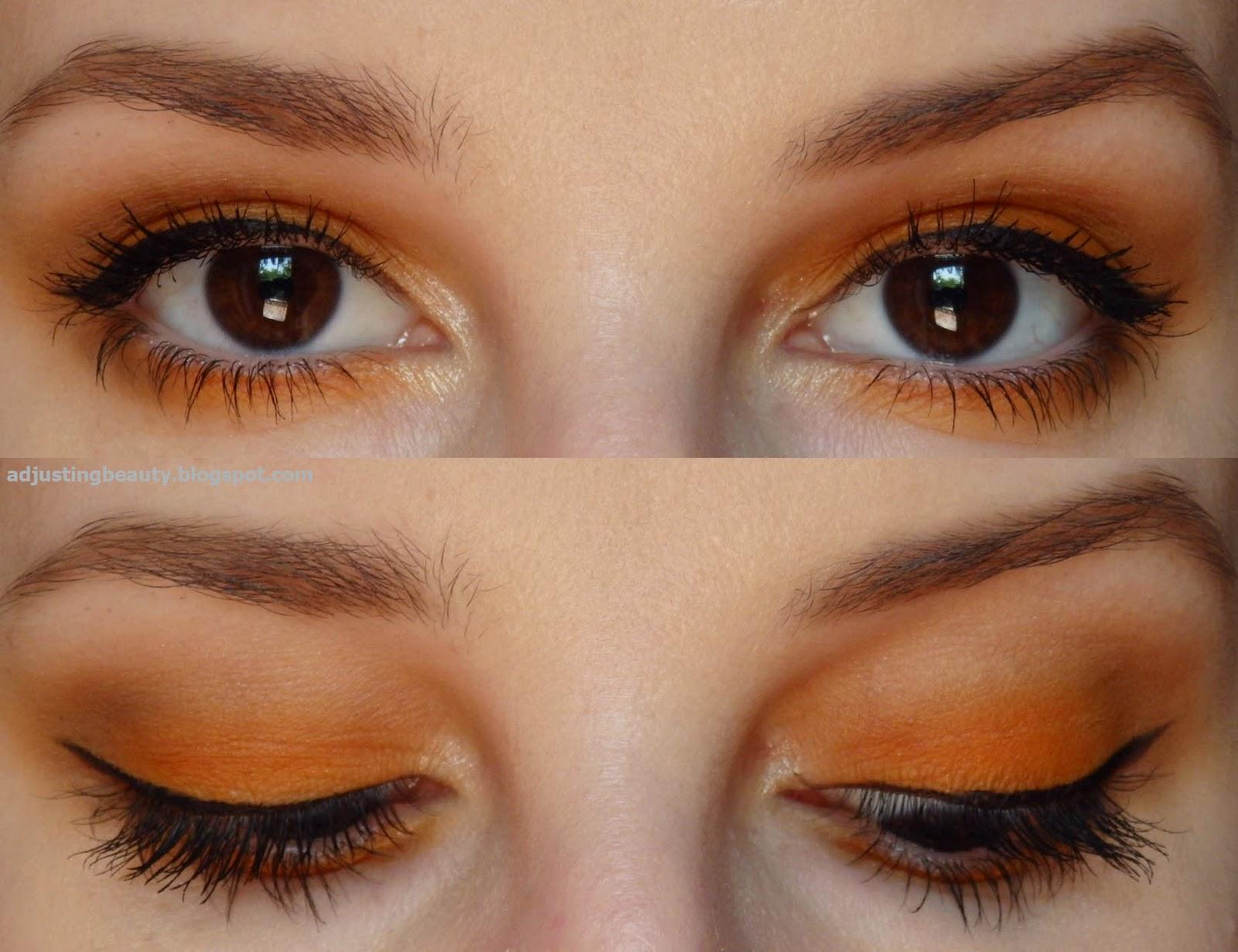Orange Eye Makeup Summer Adjusting Beauty