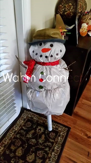 How to Make Adorable Snowman for FREE!!!!!