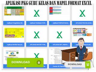 Aplikasi PKG Guru Kelas dan Mapel Format Excel
