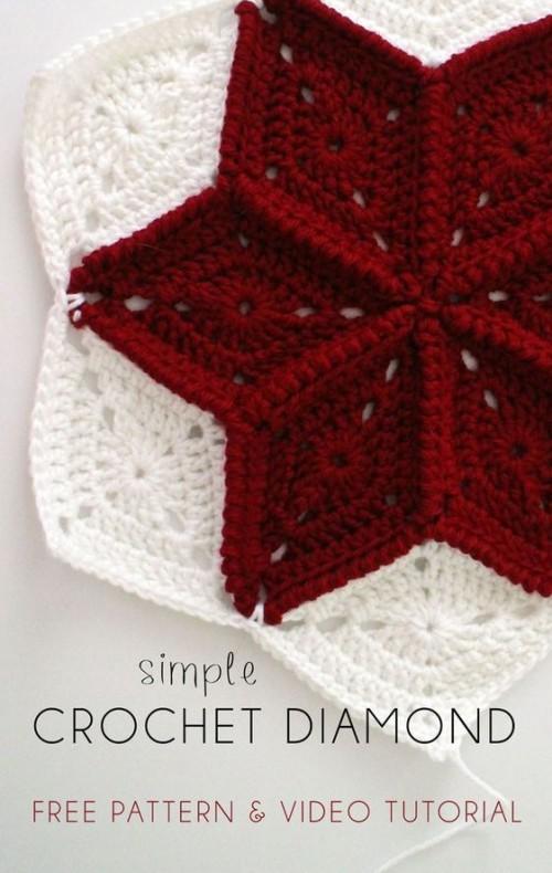 Crochet Diamond Granny Square - Free Pattern