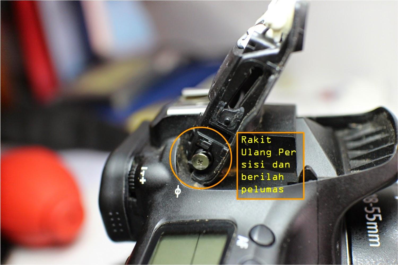Canon EOS 60D Error 05 Flash tidak Bisa Terbuka