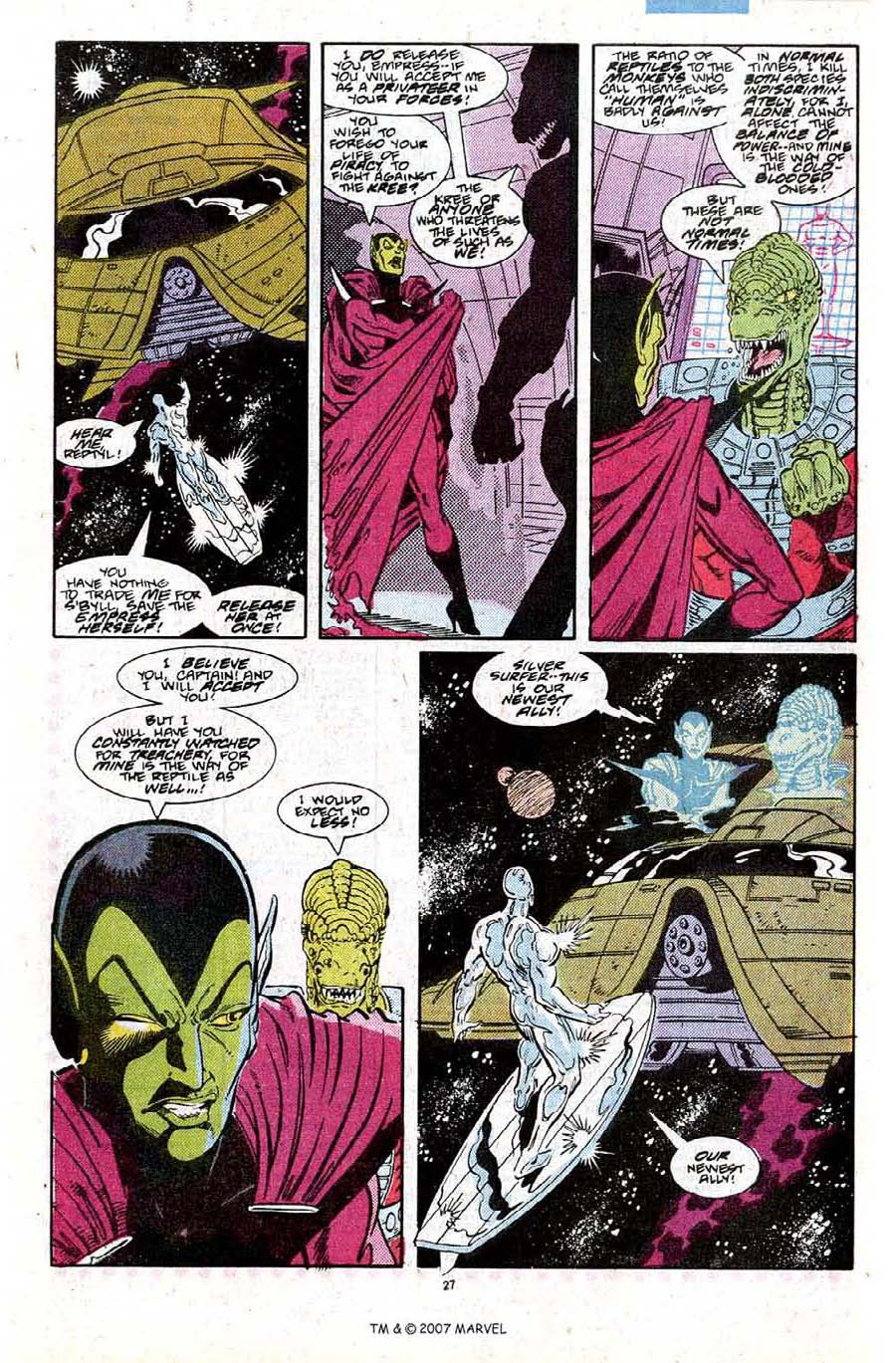 Read online Silver Surfer (1987) comic -  Issue #27 - 29