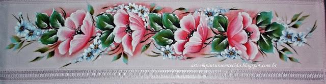 toalhas pintadas a mão flores