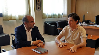 Συνάντηση του  Απ. Κατσιφάρα με τον Υφυπουργό Παιδείας Δ. Μπαξεβανάκη