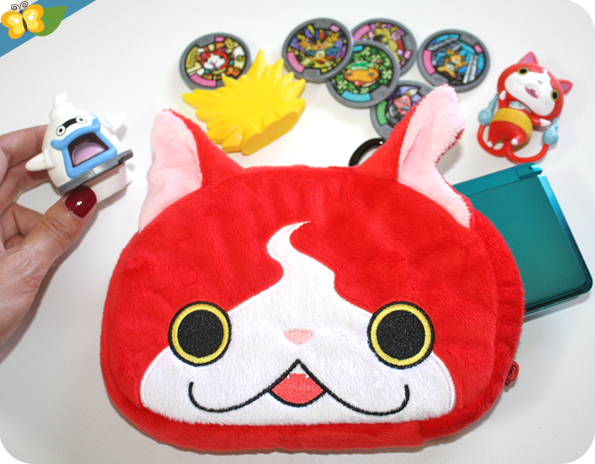 Sacoche Peluche Jibanyan Yo-Kai Watch pour Nintendo 3DS