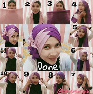 Model Hijab Tumpuk