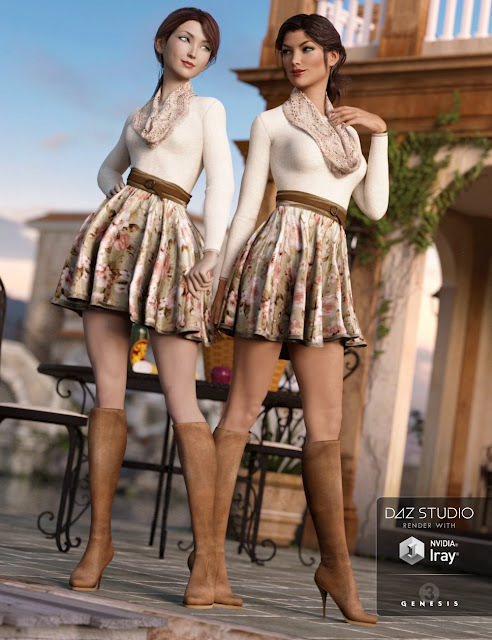 First Date Outfit for Genesis 3 Female