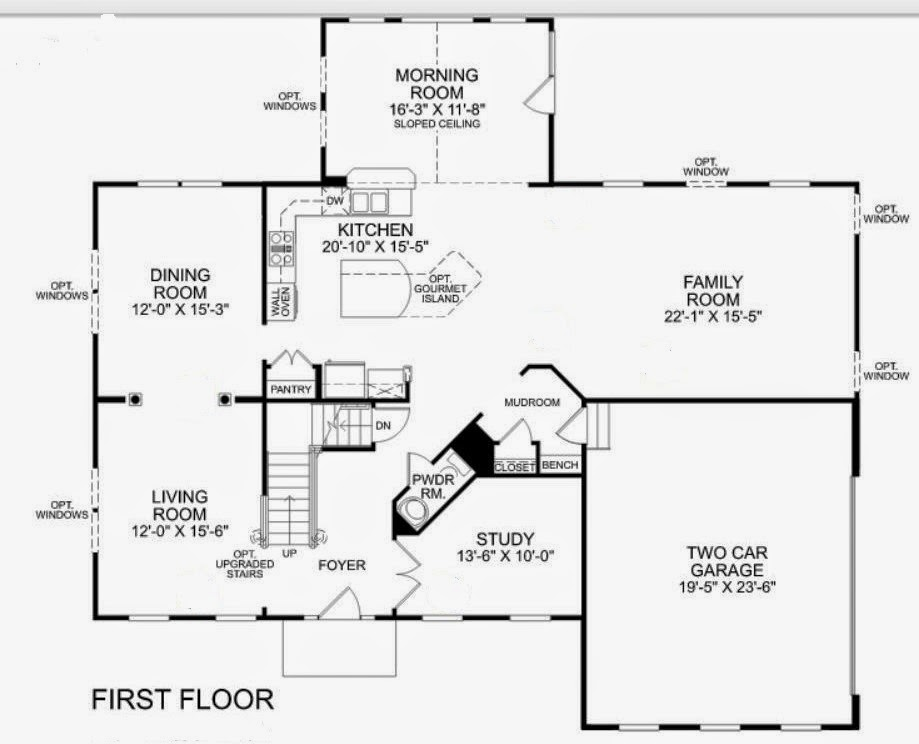 Ryan homes jefferson floor plan for Ran homes plans