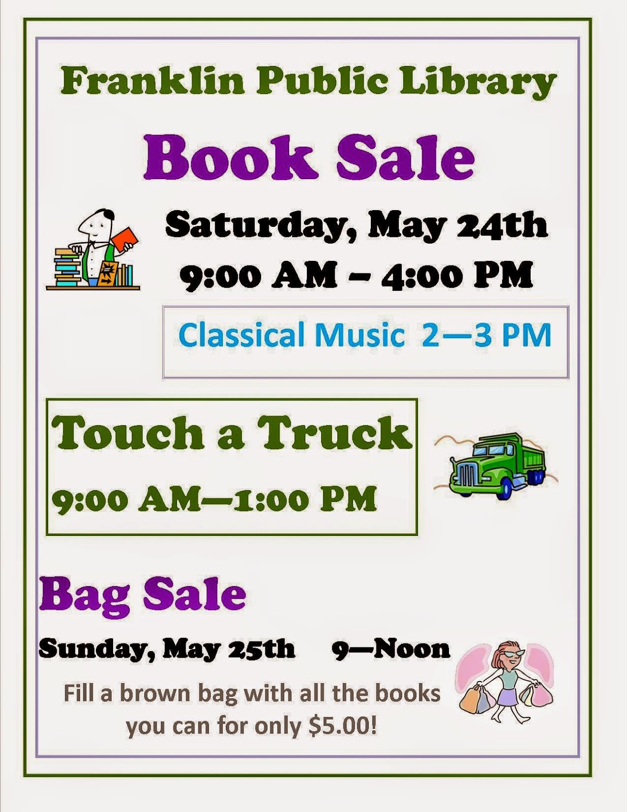 Franklin Library Book and Bag Sale - May 2014