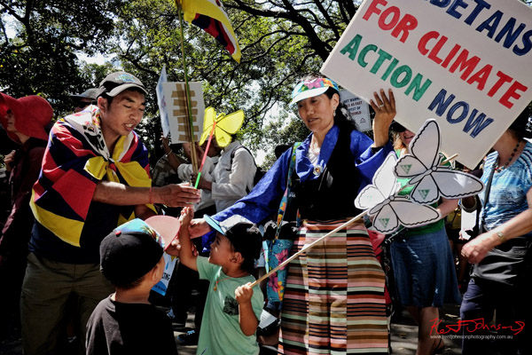 Tibetans for climate action now - Sydney, Climate Change March, The Domain, Macquarie Street, Climate Change, Protest, #NoPlanetNoFuture, #PeoplesClimate, #PeoplesClimateMarch, #Sydney,
