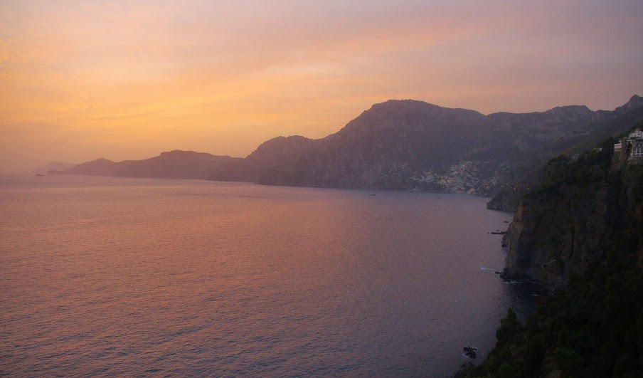 Amalfi Coast Italy Sunset