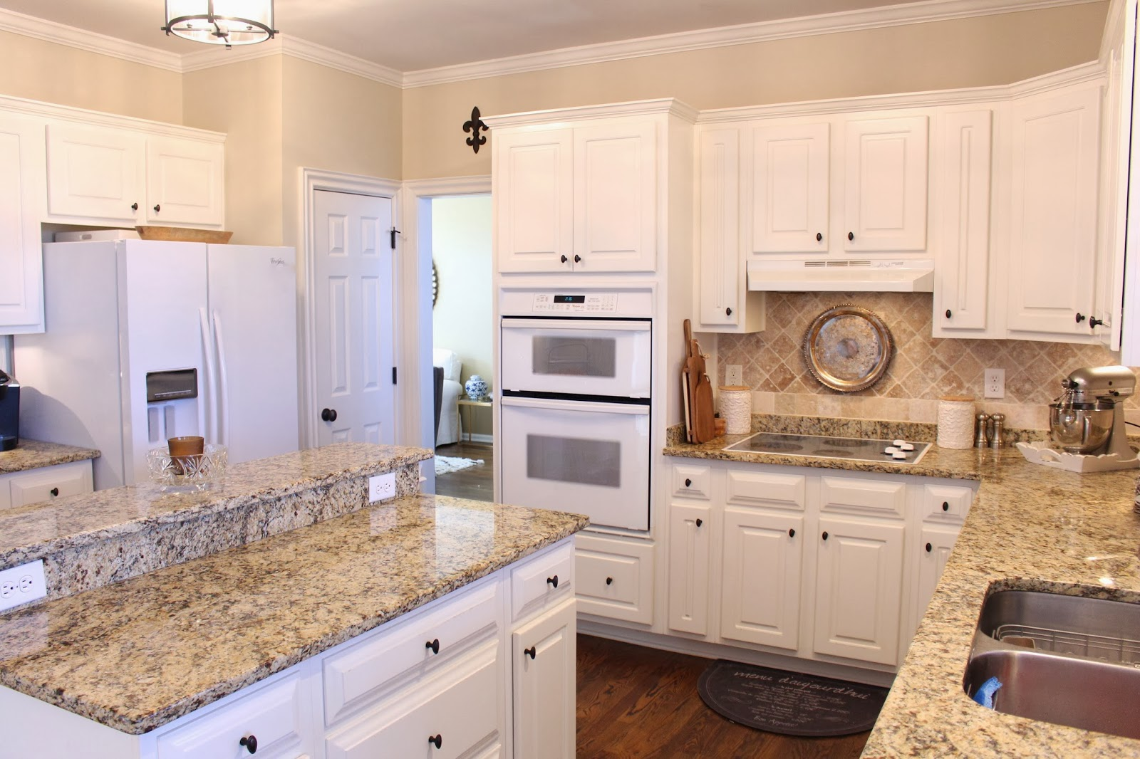 beige kitchen cabinets faucets repair white tan walls  quicua