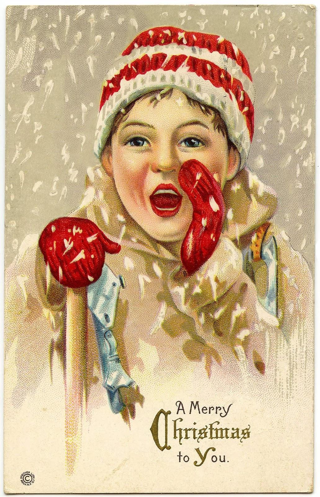 Bytes Vintage Christmas Cards