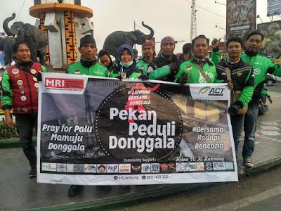 Gaspool Lampung Bersama ACT Galang Donasi Peduli Palu dan Donggala