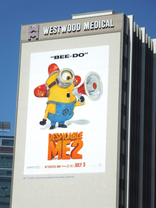 Giant Despicable Me 2 Beedo billboard