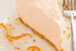 NO BAKE ORANGE CREAMSICLE CHEESECAKE YUMMY