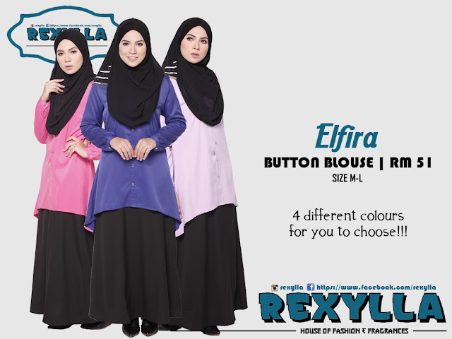 rexylla, wide hem, button blouse, elfira collection