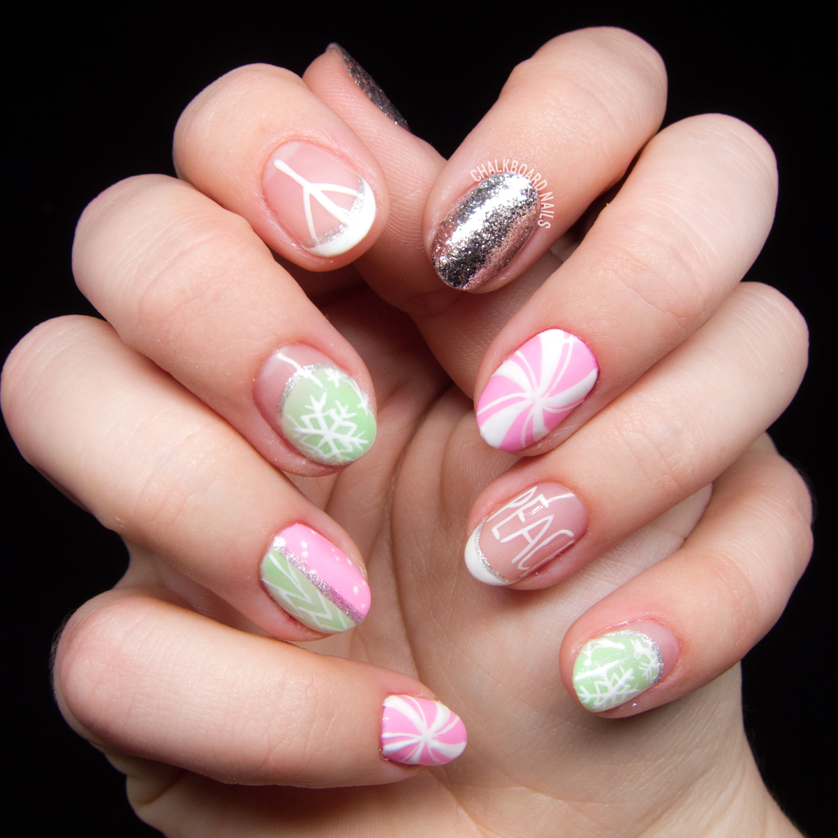 it 39 s a marshmallow world in the winter chalkboard nails. Black Bedroom Furniture Sets. Home Design Ideas