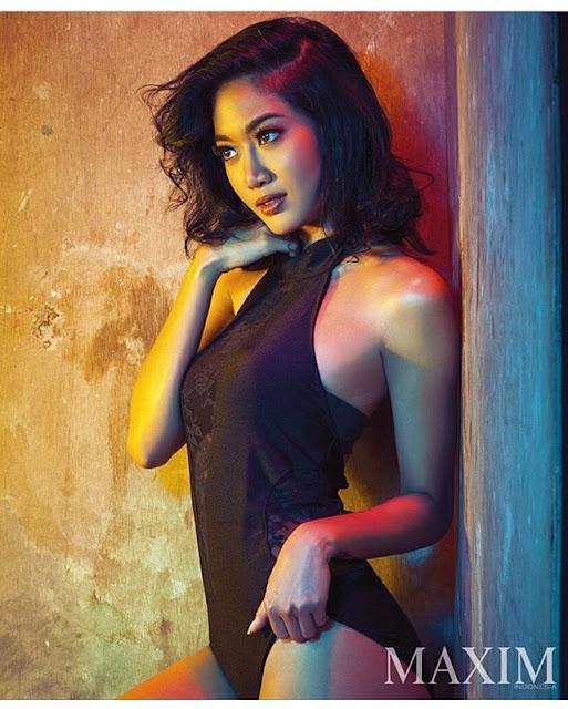 Foto Seksi Widy Vieratalle Majalah Maxim