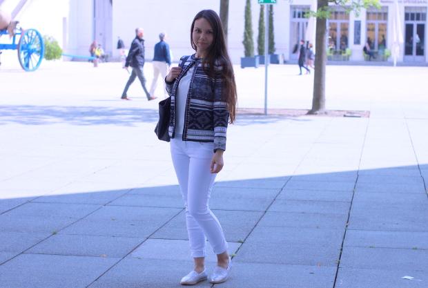 alltäglicher Gebrauch weiße Jeans von zara