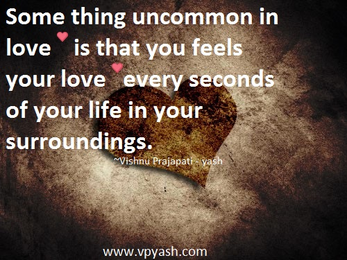 Uncommon In Love